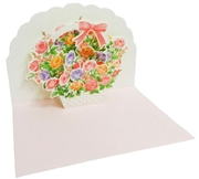 Flower Basket - Congratulations - Pop Up Greeting Card