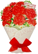 Thank You Sparkling Red Carnation Bouquet Greeting Card
