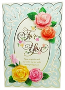 Vintage Style Rose - For You - Greeting Card