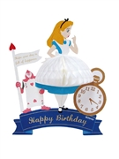 Disney Alice in Wonderland Honeycomb Pop Up Birthday Greeting Card