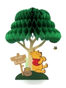 Disney Winnie the Pooh Honeycomb Pop Up Birthday Greeting Card