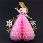 Disney Princess Aurora Honeycomb Pop Up Christmas Greeting Card