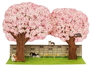 Lovely Cherry Blossom Trees w/ Cats Pop Up Decorative Greeting Card