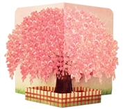 Weeping Cherry Blossom Tree Pop Up Decorative Greeting Card