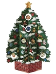 Christmas Tree Pop Up Christmas Greeting Card
