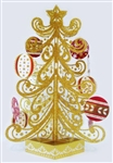 Shimmering Gold Christmas Tree Pop Up Greeting Card