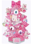 Hello Kitty Angel Christmas Tree Pop Up Greeting Card