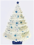 Shimmering White Christmas Tree Greeting Card