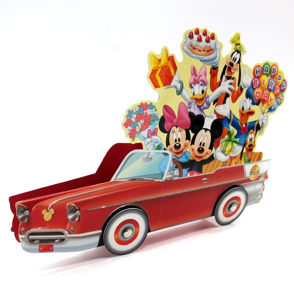 Pop Up Vehicles : Disney pop up car with flashing lights blinks to happy