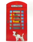 Unique Red Telephone Booth Happy Birthday Melody Greeting Card