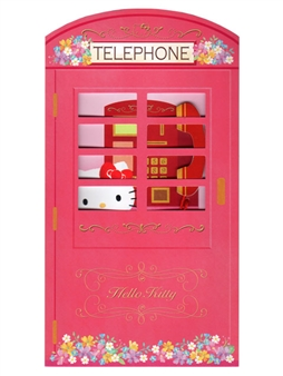 Hello Kitty Pink Telephone Booth Happy Birthday Melody Greeting Card