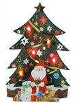 Brightly Shining Christmas Tree Lights & 20 Melodies Pop Up Greeting Card