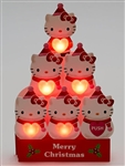 Hello Kitty Winter Snowman Lights & 16 Melodies Pop Up Christmas Greeting Card
