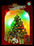 Sparkling Decorative Christmas Tree Lights and Melody Pop Up Greeting Card