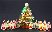 Christmas Tree with Mini Vintage Santa's Garland Lights and Melody Pop Up Card