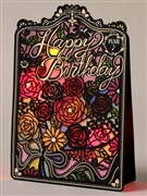 Laser Cut Roses Lights and Melody Pop Up Birthday Greeting Card