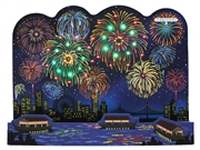 Spectacular Fireworks Celebration Lights and Sounds Decorative Pop Up Card