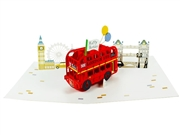 Happy Birthday Laser Cut London Pop Up Greeting Card