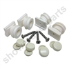 Set of  replacement shower door rollers sdr-sov-1