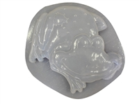 Frog with ladybug concrete or plaster mold 1006