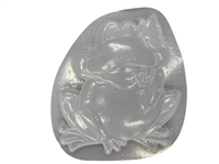 Frog butterfly concrete plaster mold 1034