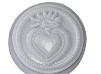 Heart concrete or plaster mold 1072