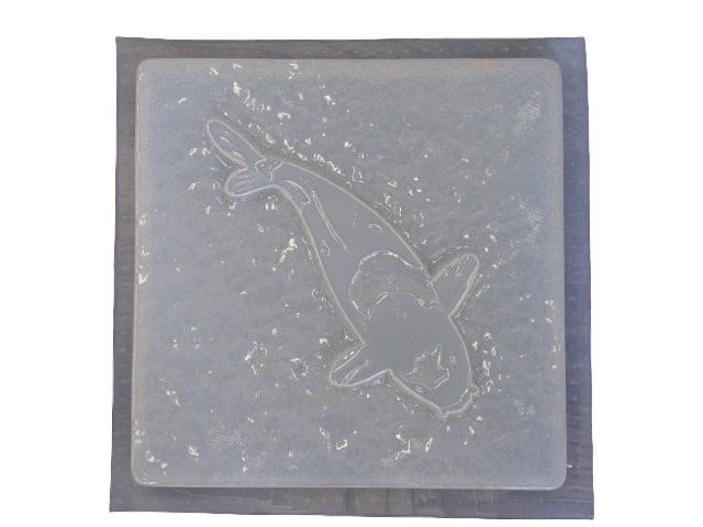 Koi Fish Concrete Plaster Stepping Stone Mold 1120