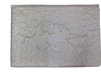 Cowboy horse roping concrete or plaster mold 1125