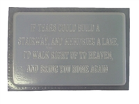 If Tears Memorial Mold 1191
