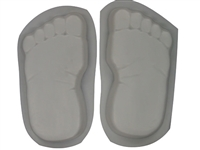 Footprints bare feet concrete or plaster mold 1260
