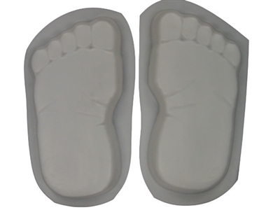 Footprints Bare Feet Concrete Stepping Stone Mold 1260