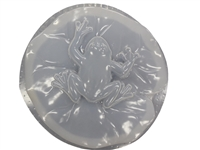 Frog on lily concrete mold 1262