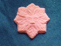 Green man soap mold 4751