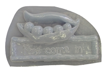 Peas Come In Concrete Mold 7006
