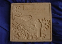 Bird stepping stone concrete Mold 7164