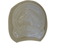 Horse head welcome plaque mold 7220