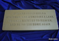 If Tears Memorial concrete Mold 9010