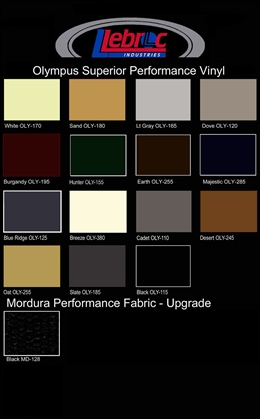 Olympus Color Card (Series 1 Chairs & Series 2 Chairs)