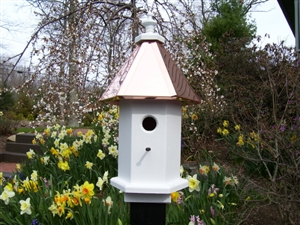 Our Cottage Bird House Is Lovely Sitting On Top Of A Post In Your Garden.