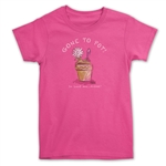 Hot Pink Gone to Pot T-shirt for gardeners.