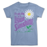 light blue liquid sunshine T-shirt for gardeners.