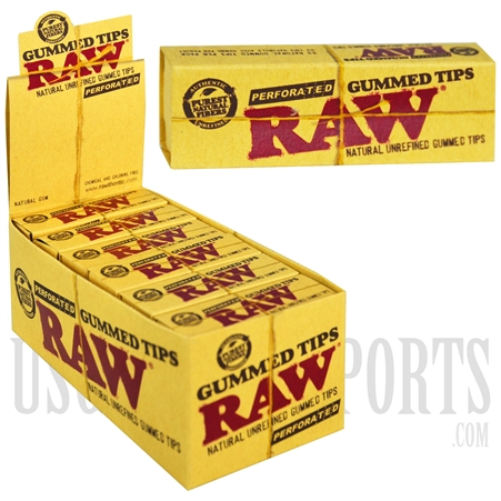 CP-80 RAW Gummed Tips Perforated 24 Per Box
