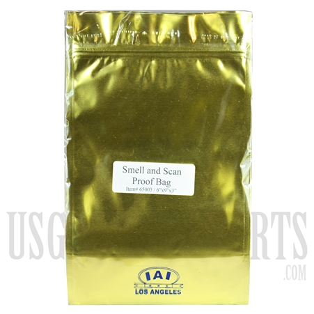 DB31 Gold Smell & Scan Proof Bag. 6x9x3