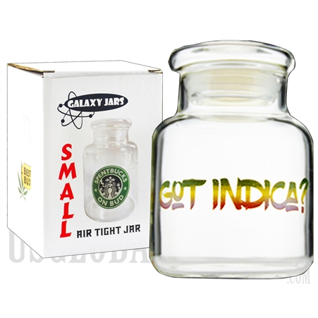 "JAR-6-5 3.75"" Small Air Tight Jar by Galaxy Jars - Got Indica?"