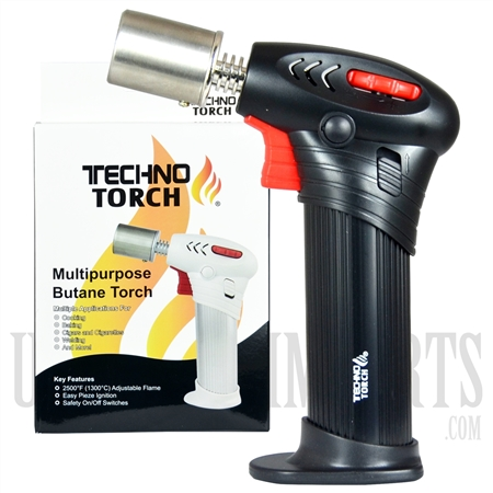 "LT-17145 TECHNO TORCH - 6"" Double Flame Spinal Neck Multipurpose Butane Torch"