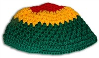 V-08 RASTA COLOR KNITTED BEANIE