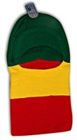 V-12 VISOR HOLE SKI MASK RASTA COLOR