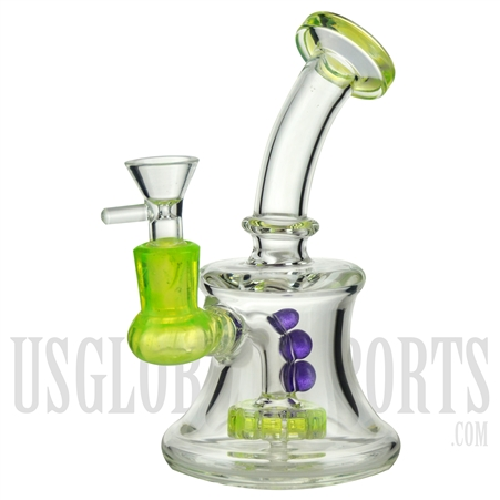 "WP-504 6"" Water Pipe + Stemless + Showerhead + Bent Neck + Color"