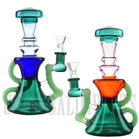 "WP-N9162 8.5"" Water Pipe + Stemless + Inline Showerhead + Klein Recycler + Recycler Arm + Color"