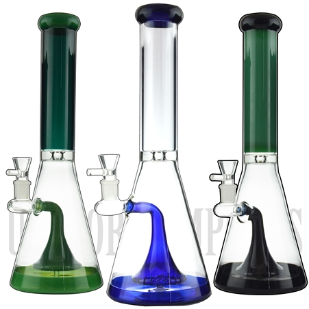 "WP-NS9177 16"" Water Pipe + Stemless + XLG Showerhead + Ice Catcher + Color"